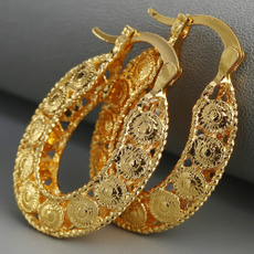 Hoop Earring, Infinity, Jewelry, gold