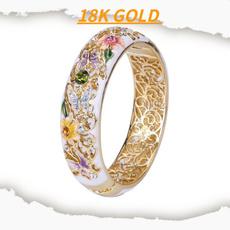 plantring, roseflowerring, Fashion, gold