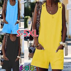 Summer, Plus Size, women Jumpsuit, Pocket