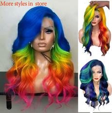 wig, rainbow, hairstyle, Fashion