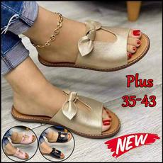 Ladies, Flats, Flip Flops, Plus Size