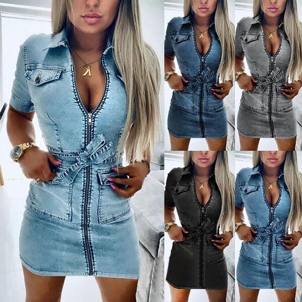 denim dress, Jeans Dress, Fashion, sleeve dress