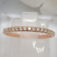 Sterling, DIAMOND, Simple, anillosdeplata