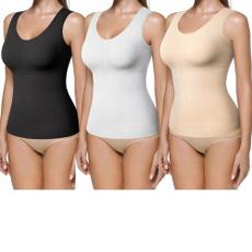 Vest, waist trainer, builtinbra, basiccami