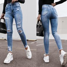 Summer, trousers, pocketsjean, JeansWomen