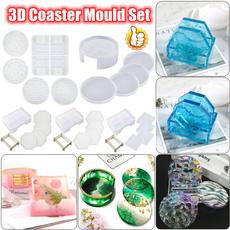 Box, castingmold, Coasters, Silicone