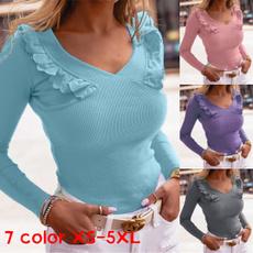 sleeve v-neck, knitwear, Fashion, Sleeve