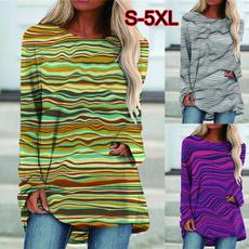 blouse, Blouses & Shirts, Stripes, Winter