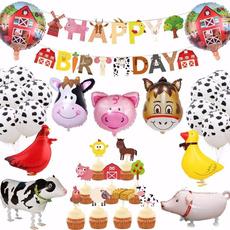 cow, Farm, Balloon, decoration