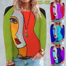 blouse, Round neck, Plus Size, Floral print