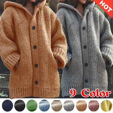 Plus Size, cardigan, Winter, knitted