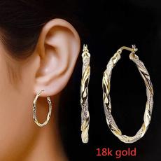 Fashion, Infinity, gold, gold hoop earrings for women