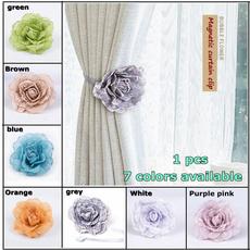Flowers, Home Decor, magneticcurtainbuckle, Buckles
