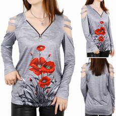 women pullover, shirtsforwomen, Plus Size, womenlongsleeve