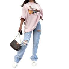 trousers, Women jeans, Denim, loosejean