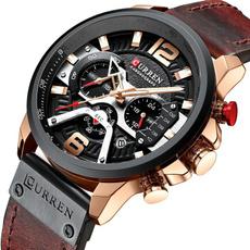 Chronograph, Fashion, leather strap, Watch