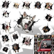 dogwallsticker, puppy, glasssticker, Pets