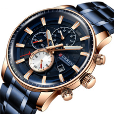 Chronograph, Fashion, Waterproof, Stainless Steel