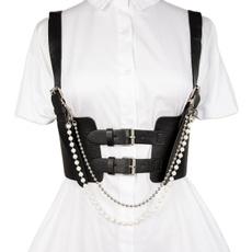 corset top, Goth, Moda masculina, Chain