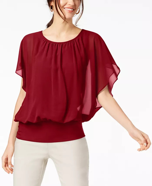 Tops, Fashion, Red
