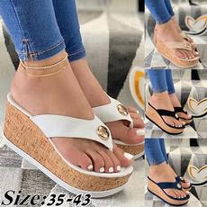 Flip Flops, Plus Size, Platform Shoes, casualslipper