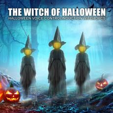 Decor, halloweenwitchgardenlamp, Garden, lightupwitch
