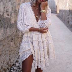 Deep V-Neck, ninepointdres, Deep V-neck Dress, Summer