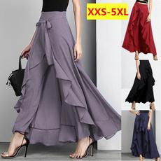 Plus Size, high waist skirt, ruffle, Casual pants