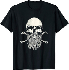 bearded, Gifts, skull, Vintage