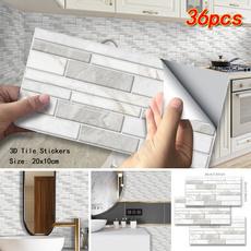 PVC wall stickers, Bathroom, diywallpaper, tilesticker