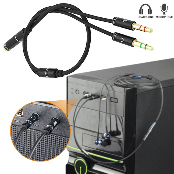 Headset, Microphone, Cable, Splitter