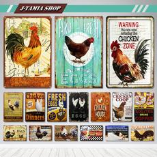 Decor, Farm, metalpainting, Vintage