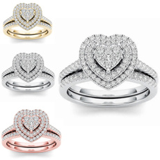 Couple Rings, Fashion, 925 sterling silver, Princess