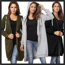 cardigan, hooded, Ladies Fashion, Coat