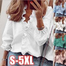 Plus Size, Women Blouse, Long Sleeve, Shirt