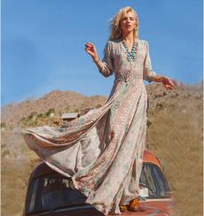 Summer, womens dresses, chiffon, long dress