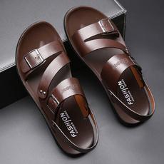 beach shoes, Fashion, mensandal, genuineleathersandal