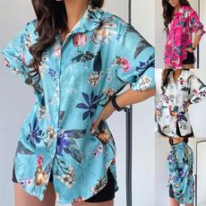 Plus Size, Long Sleeve, printed shirts, summer t-shirts