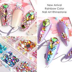 nail decoration, rainbow, DIAMOND, art