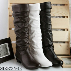 Knee High Boots, Fashion, leather shoes, Womens Shoes