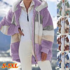 fur coat, Plus Size, Casual Jackets, Ladies