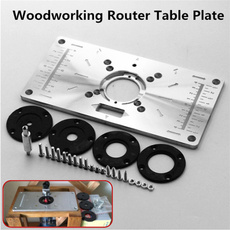 Wood, aluminium, routerinsertplate, insertplate