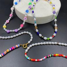 Bead, seedbeadnecklace, Jewelry, Colorful
