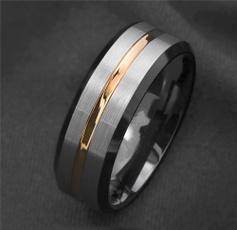 8MM, tungstenring, Jewelry, gold