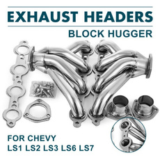 Chevy, exhaust, hugger, Stainless