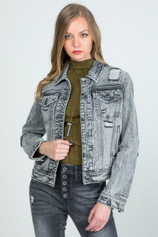 Куртка, Сірий, trendsi, Мода