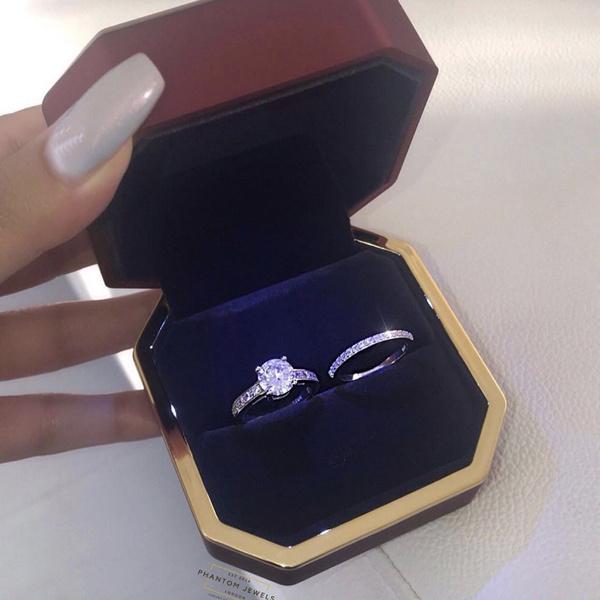 White Gold, Sterling, DIAMOND, Romantic