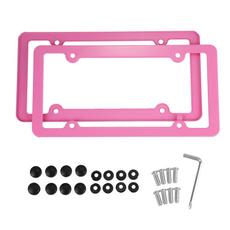 case, pink, cartrucklicenseplateframe, Fiber