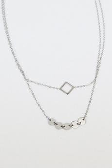 Necklace, trendsi, layered, Geometric