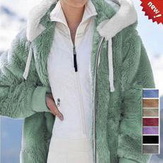 Fleece, hooded, fur, Winter